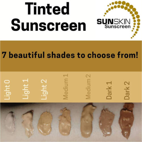SUNSKIN UV DERM TINTED SUNSCREEN SHADES