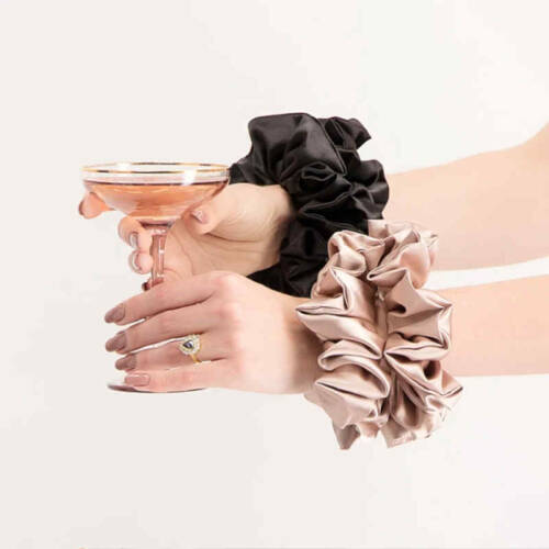 SUPER SIZED SCRUNCHIES 2PK BLACK ROSE GOLD WHOLESALE 7