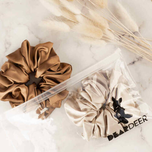 SUPER SIZED SCRUNCHIES 2PK COFFEE LATTE WHOLESALE 1